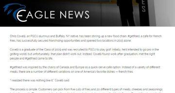 Eagle News - FGCU ALUMNI FRIES UP SUCCESS WITH #GETFRIED